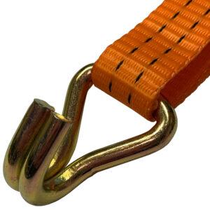"""1.5 Ton Double """"J"""" Hook Ratchet Tie Down Strap"""