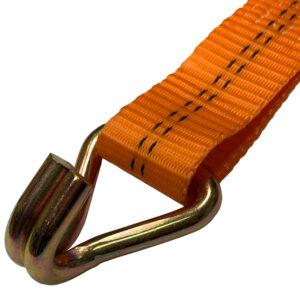 """2 Ton Double """"J"""" Hook Ratchet Tie Down Strap"""
