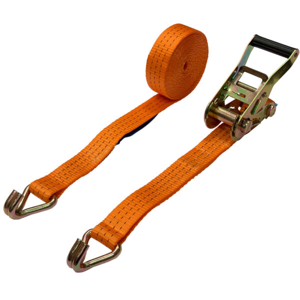 """3 Ton Double """"J"""" Hook Ratchet Tie Down Strap"""