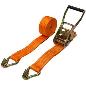 """4 Ton Double """"J"""" Hook Ratchet Tie Down Strap"""