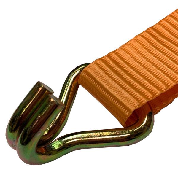 """0.8 Ton Double """"J"""" Hook Ratchet Tie Down Strap"""